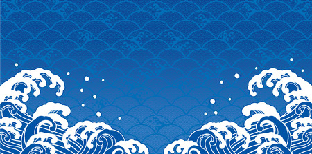 Sea illustration background Ilustração