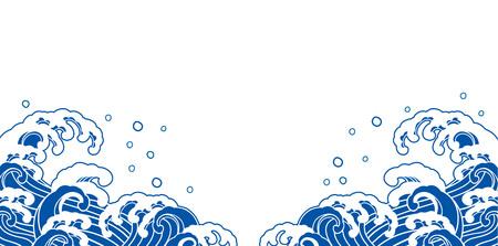 海のイラスト背景