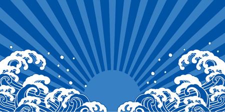 Sea illustration background Vettoriali
