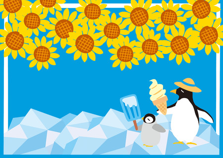 illustration and cool: Illustration of the cool summer at the North Pole