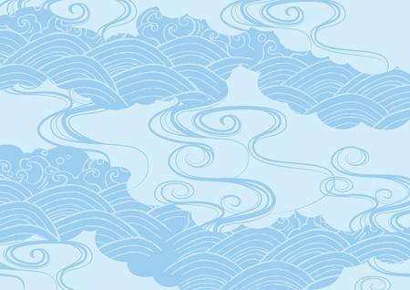 Japanese Japanese pattern (blue image)