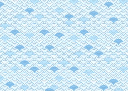 日本の和柄 (ブルー画像)  イラスト・ベクター素材