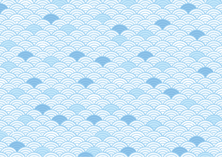 Japanese Japanese pattern (blue image) Illustration