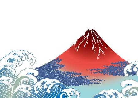 Japanese Fuji white 向量圖像