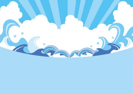 夏波の図  イラスト・ベクター素材