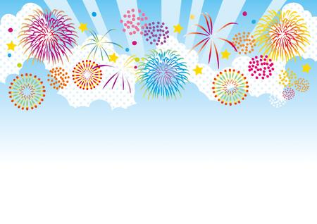 Illustration of summer fireworks