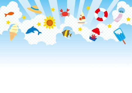 Illustration of summer sky