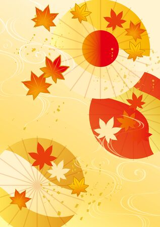 Beautiful autumn leaves in autumn