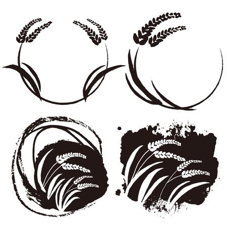 Rice illustration  イラスト・ベクター素材