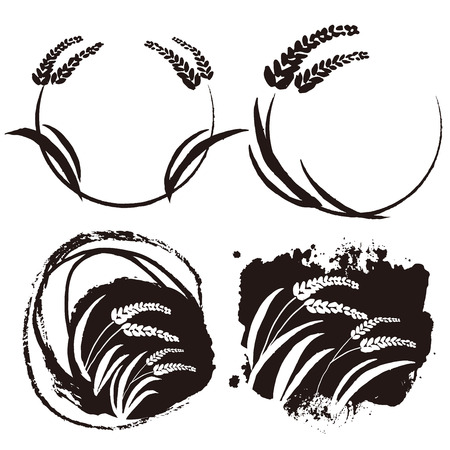 Rice illustration Illustration