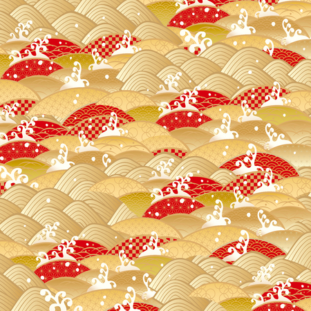 New Years pattern in Japan