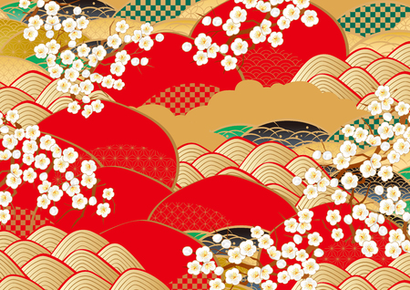 New Year's pattern in Japan