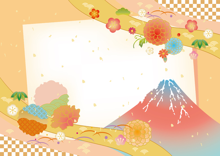 Japanese pattern background vector illustration. Reklamní fotografie - 85414637