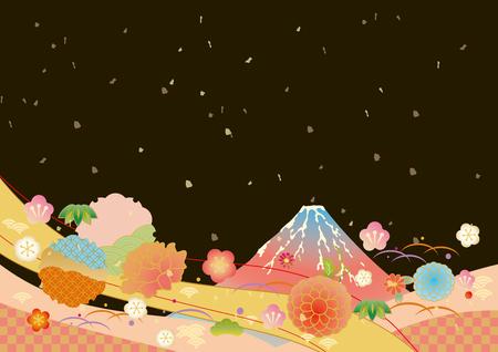 Japanese pattern background vector illustration. Reklamní fotografie - 85414638