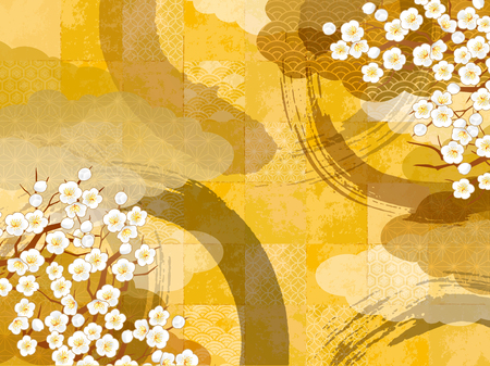 Japanese pattern background Banco de Imagens - 85480602