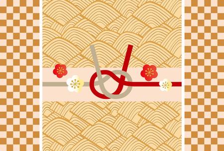 日本の美しい新年のカード