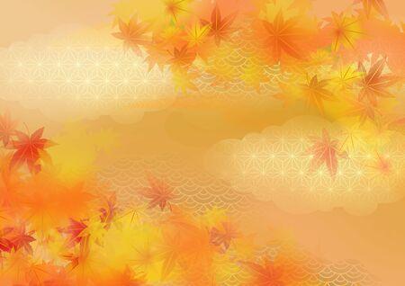 It is an illustration of autumnal leaves in Japan. Reklamní fotografie