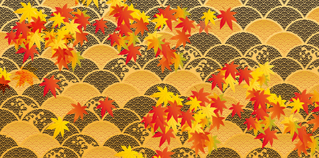 It is an illustration of autumnal leaves Ilustrace