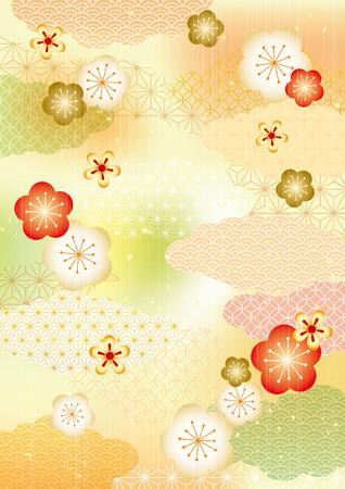 Japanische Muster Hintergrund Vektorgrafik