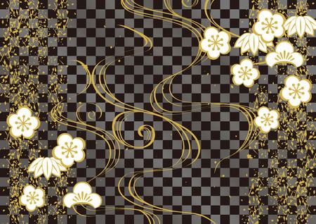 일본식 패턴 배경.