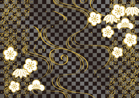 A Japanese pattern background.
