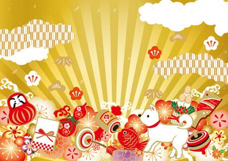 Chinese New Year illustration card Reklamní fotografie - 88706845