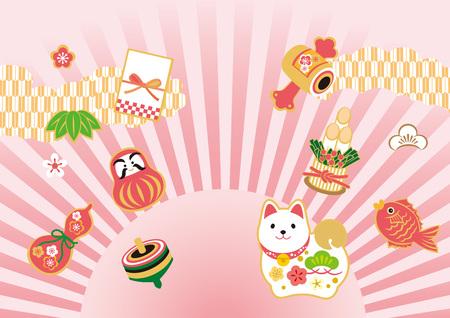 Chinese New Year illustration card Illustration