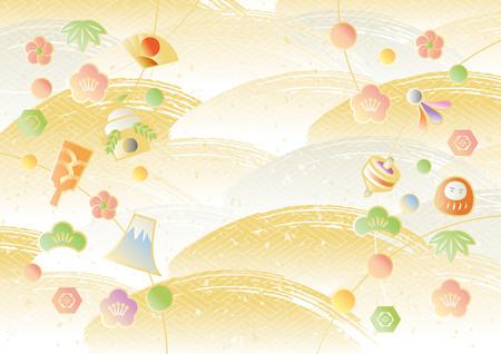 Pattern of Japanese New Year illustration. Reklamní fotografie - 89173531
