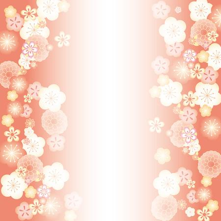 Japanese floral design pattern Ilustrace