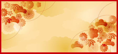 The pattern of Japanese New Year illustration.