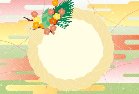 Wreath Japanese style Ilustrace