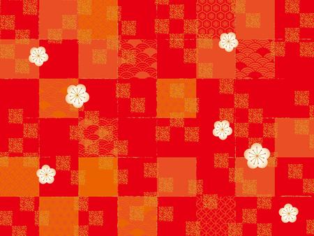 Japanese style pattern  イラスト・ベクター素材