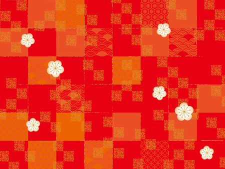 Japanese style pattern Illustration