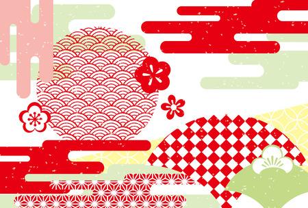 Japanese style abstract pattern vector illustration Ilustrace