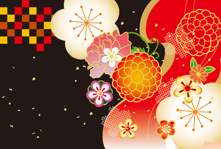Japanese style abstract pattern vector Ilustrace
