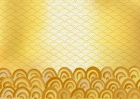 Japanese wave pattern Stock Photo