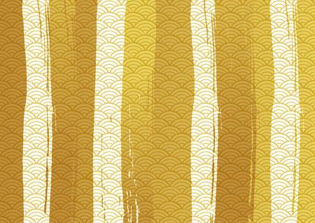 Japanese style pattern Illusztráció