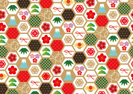 New Years pattern colorful background vector illustration. Illustration