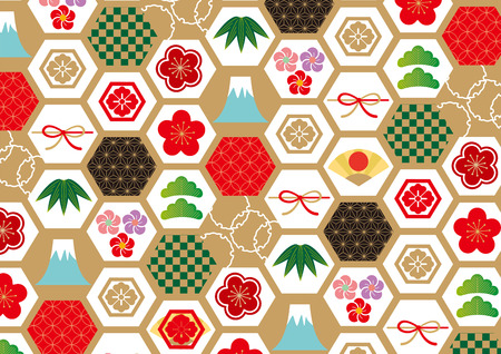 새 해 패턴 그림입니다.