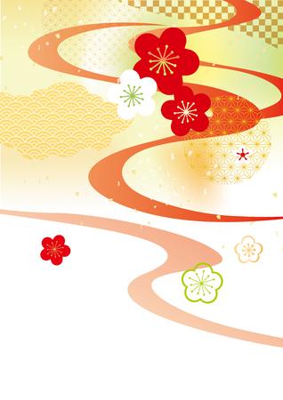 Japanese style pattern Vector illustration.
