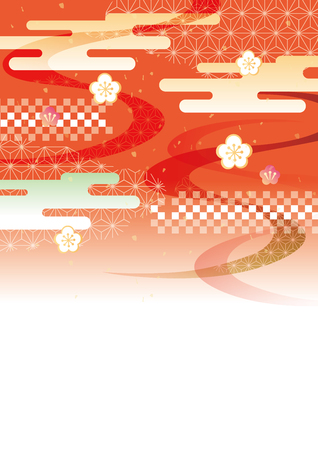 Japanese style pattern Vector illustration.