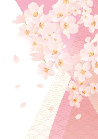 優しい桜のイラスト。  イラスト・ベクター素材