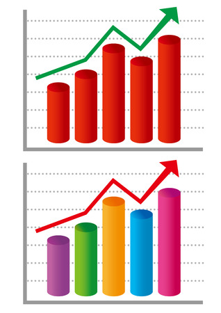 Graph that can be used for presentation materials.