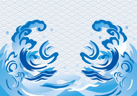 Wave design illustration