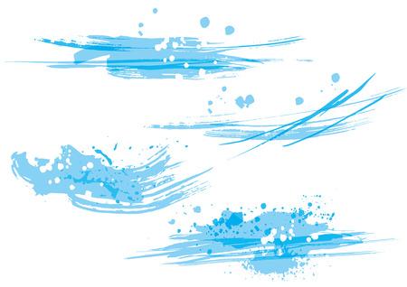 Illustration of a brush stroke wave