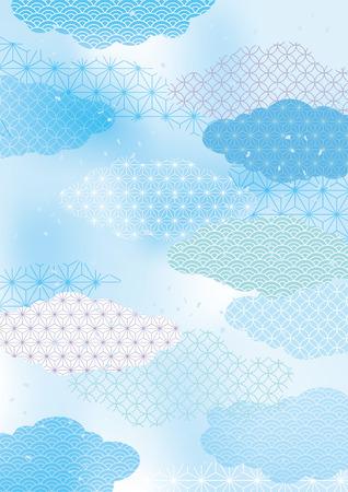 Japanese summer's fresh Japanese pattern