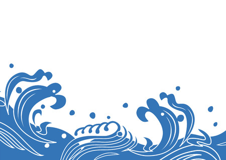 Illustration of Japanese wave Stock Vector - 103147349