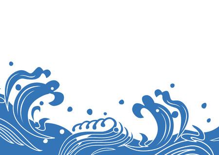Illustration of Japanese wave