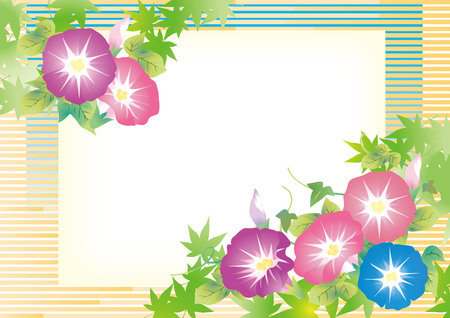 It is an illustration of Japanese summer morning glory.