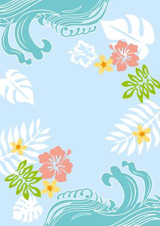 Palm tree summer illustration